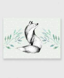lis jako dekoracja obrazu