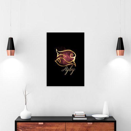 obraz kolorowy z motywem ryb