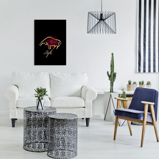 obraz ciemny z motywem byka