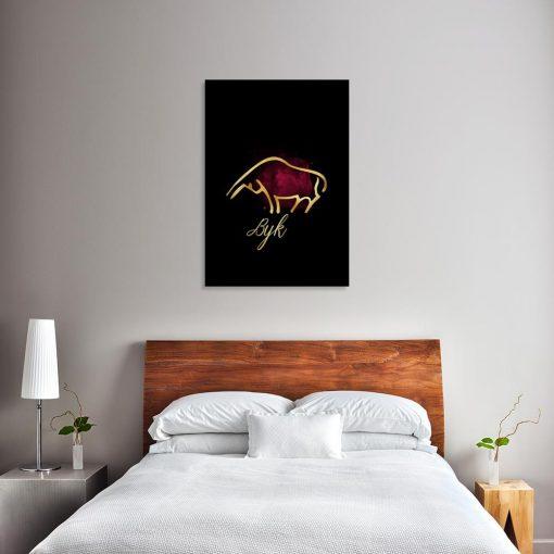 byk nad łóżko