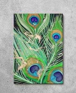 obraz z motywem pawich piórek