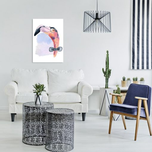 obraz z motywem flaminga