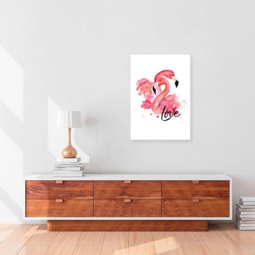 obraz z motywem flamingów