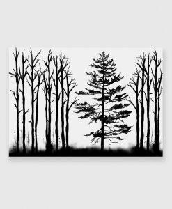 obraz las