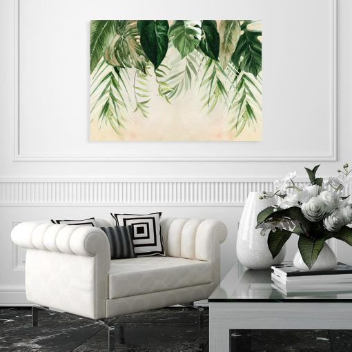obraz z motywem liści