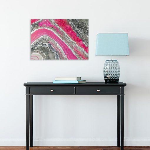 abstrakcja różowa jako dekoracja