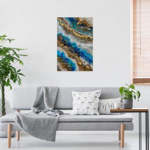 obraz niebieski jako dekoracja