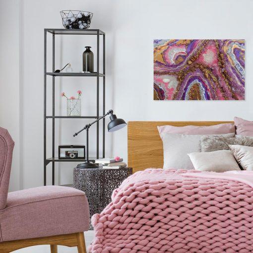obraz ścienny różowy i poziomy