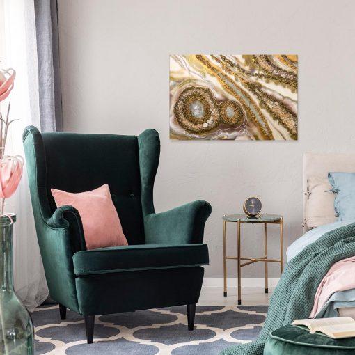 abstrakcyjna dekoracja jako obraz