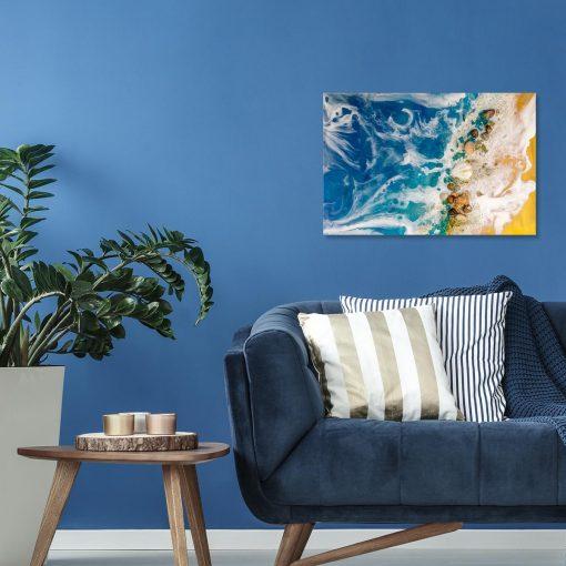 niebieska dekoracja resin art