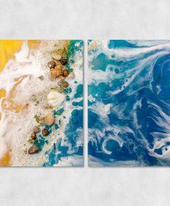 dekoracja resin art jako dyptyk