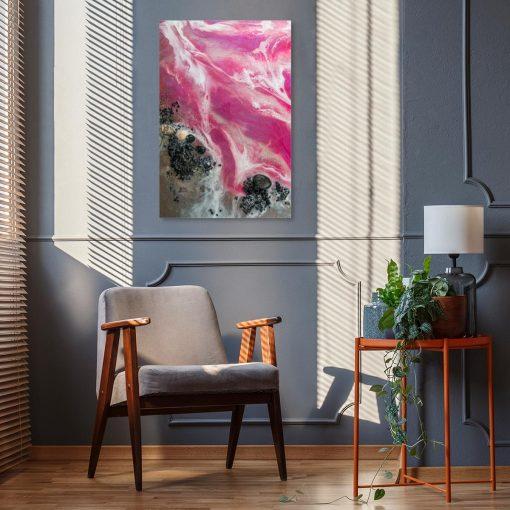 różowa dekoracja resin art