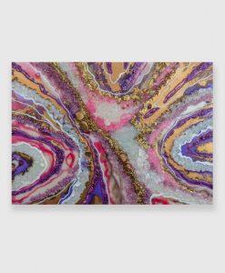 fioletowy obraz nad sofę