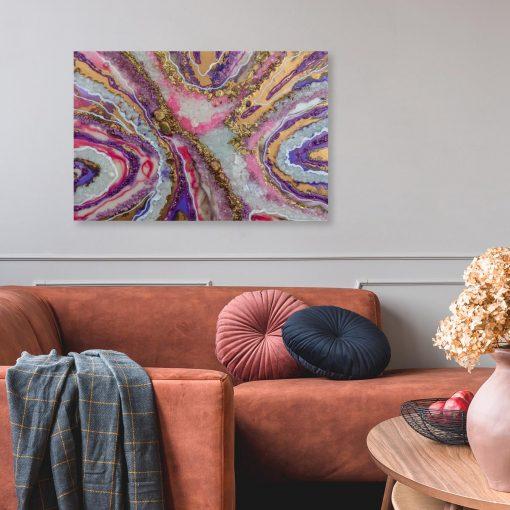 pozioma i fioletowa dekoracja