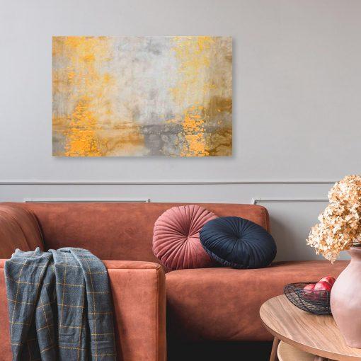 obraz z mazajami do salonu