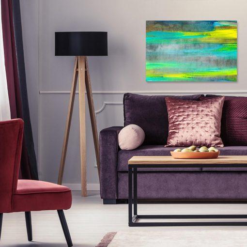 obraz do salonu z motywem mazajów