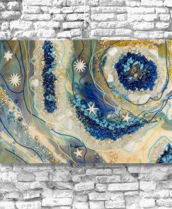 obraz na ścianę wielki foramt geode art reprodukcja