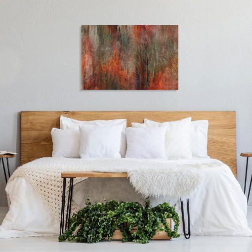 obraz do sypialni z motywem plam od pędzla