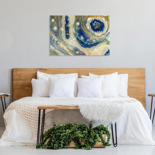 dekorowanie obrazami żywica epoksydowa sypialnia dekoracja