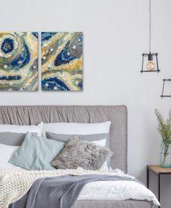 Nowoczesne, abstrakcyjne obrazy do sypialni