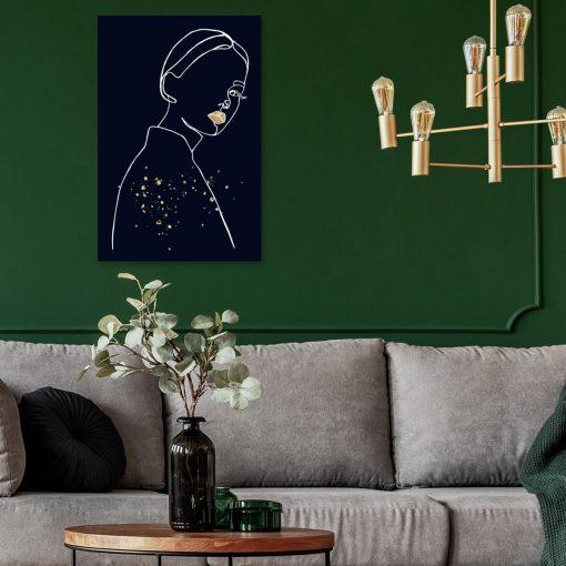 Obraz- Spoglądająca kobieta do salonu