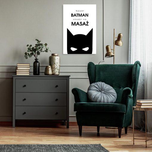 Obraz z zabawnym napisem - Batman