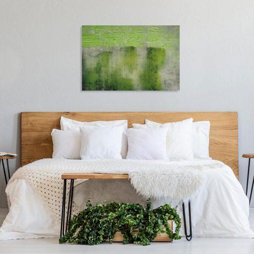 obraz na ścianę do sypialni z abstrakcyjnymi pociągnięciami pędzla