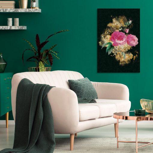 Obraz z motywem róż na ścianę salonu