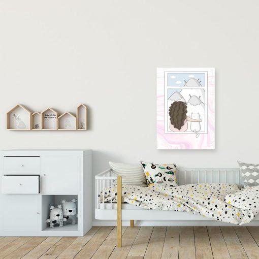 Obraz dziecięcy - Dziewczynka i kot
