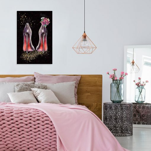 Obraz z motywem szpilek do sypialni
