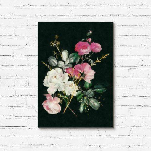 Piękny obraz przedstawiający bukiet róż