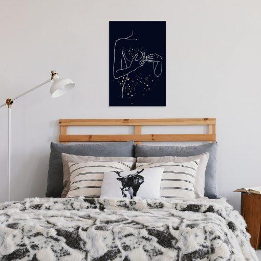 Wyjątkowy obraz kobiety - Line art do sypialni