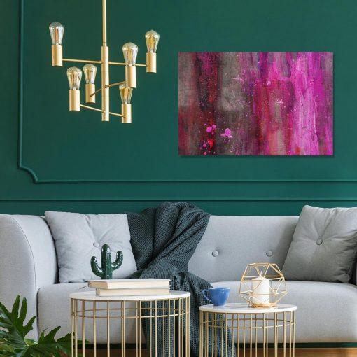 obraz na ścianę do salonu z motywem plam farby