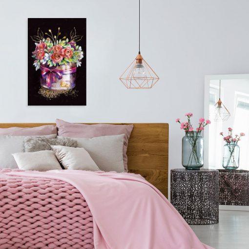 Obraz przedstawiający kwiaty do sypialni