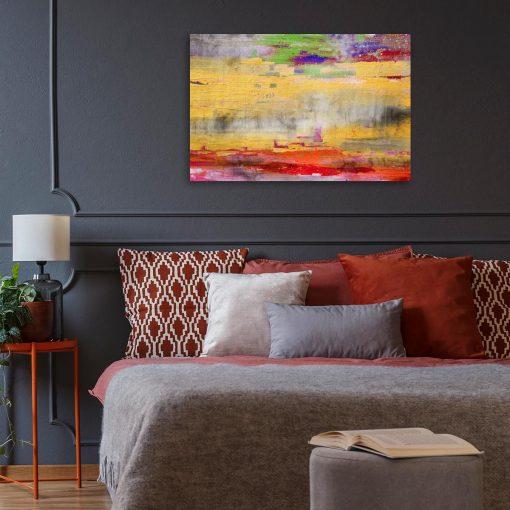 obraz jak malowany na ścianę z plamami na betonie do salonu lub sypialni