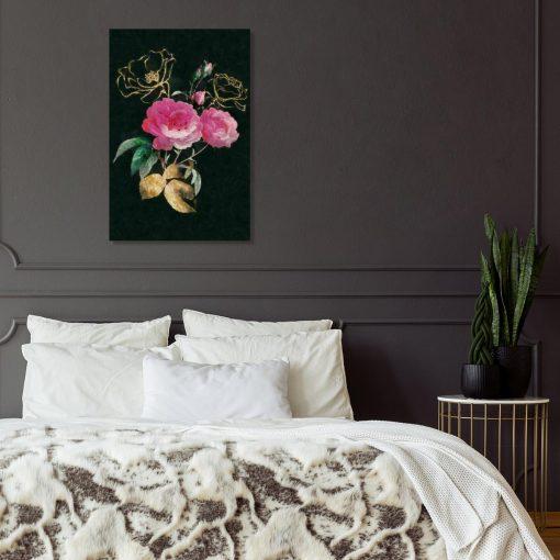 Obraz z motywem róż do sypialni
