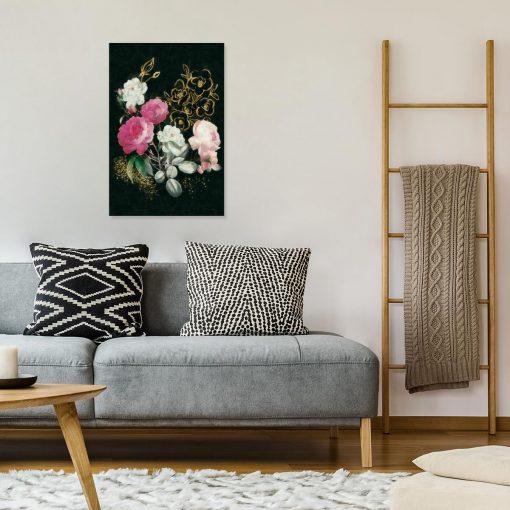 Obraz pęk kwiatów do salonu