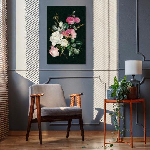 Obraz z motywem bukietu róż do salonu