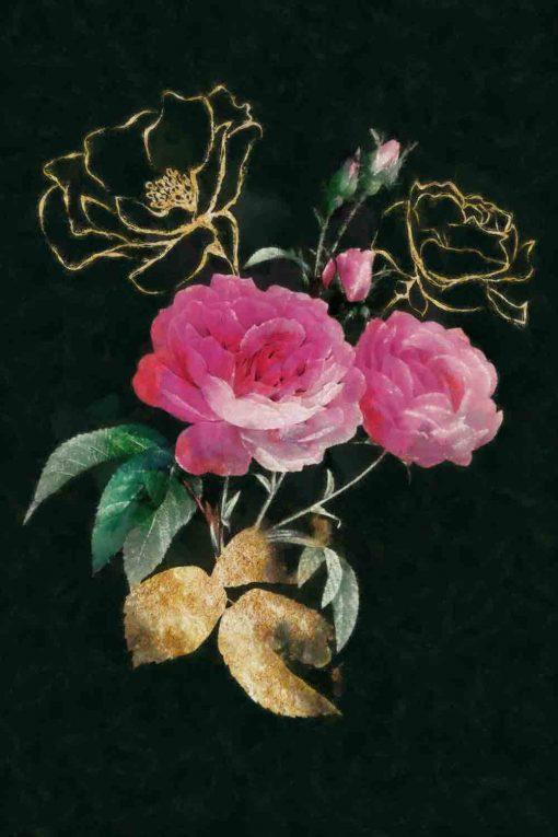 obraz z motywem kwiatów