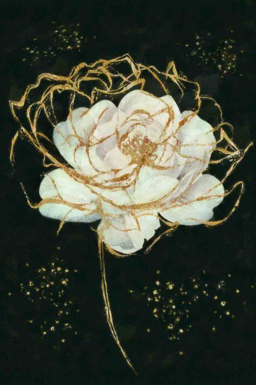 Obraz przedstawiający białą róże