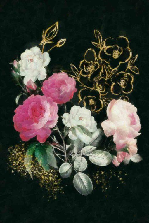 Obraz z pięknym pękiem róż