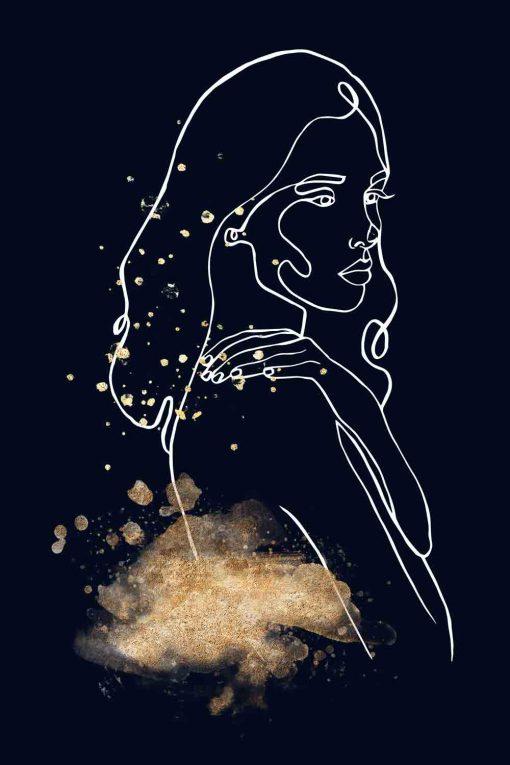 Obraz - Kobieta Line Art