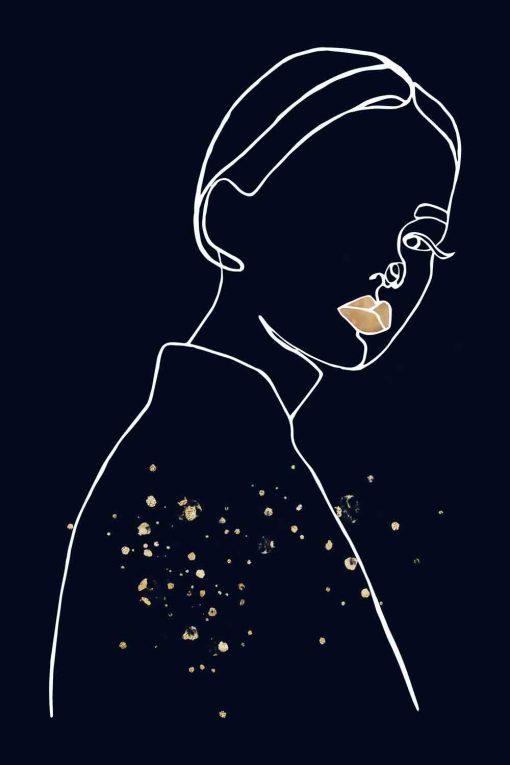 Obraz - Kobieta ze złotymi ustami