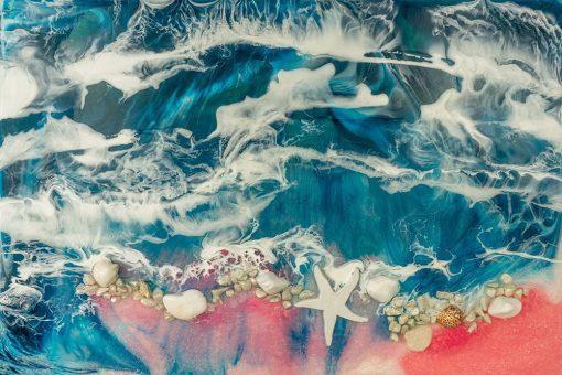 Obraz z morze z żywicy resin sea sztuka żywiczna