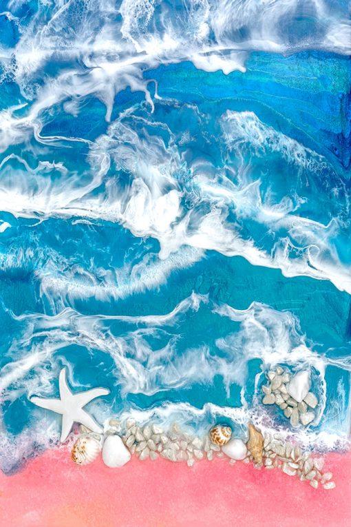 obraz morze z żywicy epoksydowej reprodukcja malarstwa