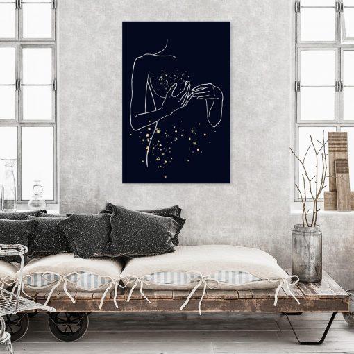 Minimalistyczny obraz - Line Art do sypialni