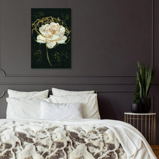 Obraz z motywem białej róży do sypialni