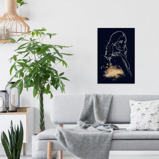 Obraz przedstawiający kobietę line art do salonu