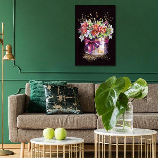 Obraz przedstawiający kwiaty do salonu