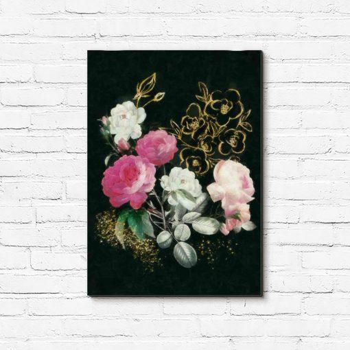 Obraz przedstawiający piękne róże